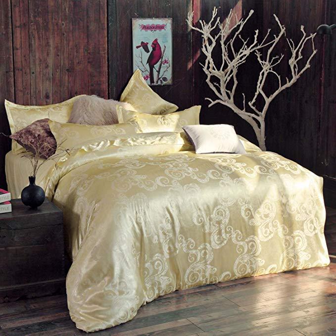 Bộ Drap Giường  lụa bông vải jacquard -  Thương hiệu: Xuan Lanshi
