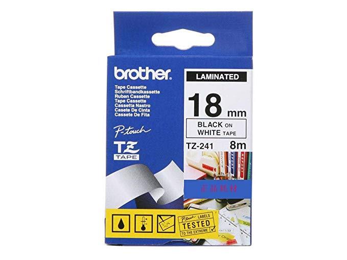 Brother Brothers TZe-241 Băng nhãn đen trên nền trắng (dành cho PT-18Rz 1010 1280 2030 2100 2430PCz