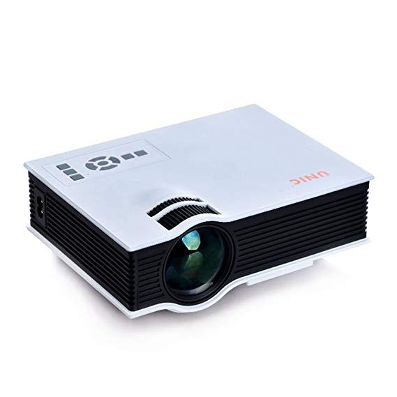 2015 mới UNIC mini micro-chiếu HD nhà xách tay micro chiếu UC40 + nhà chiếu 800 lumens 800 * 480 gốc