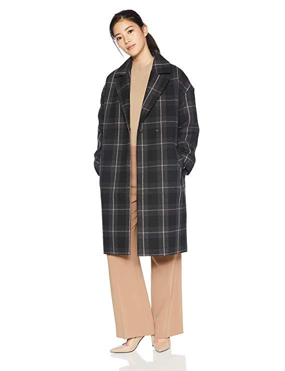 Kẻ sọc thủy thủ vai áo khoác H0184I30014 của phụ nữ