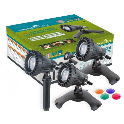 Đèn LED âm nước Tất cả các giải pháp Pond dưới nước ao và vườn đèn với ống kính màu, bộ 3