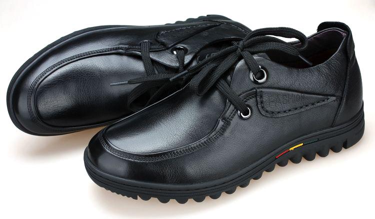 Nhãn hiệu: LFFW - giày Lười Bằng Da tăng chiều cao vô hình cho nam  .