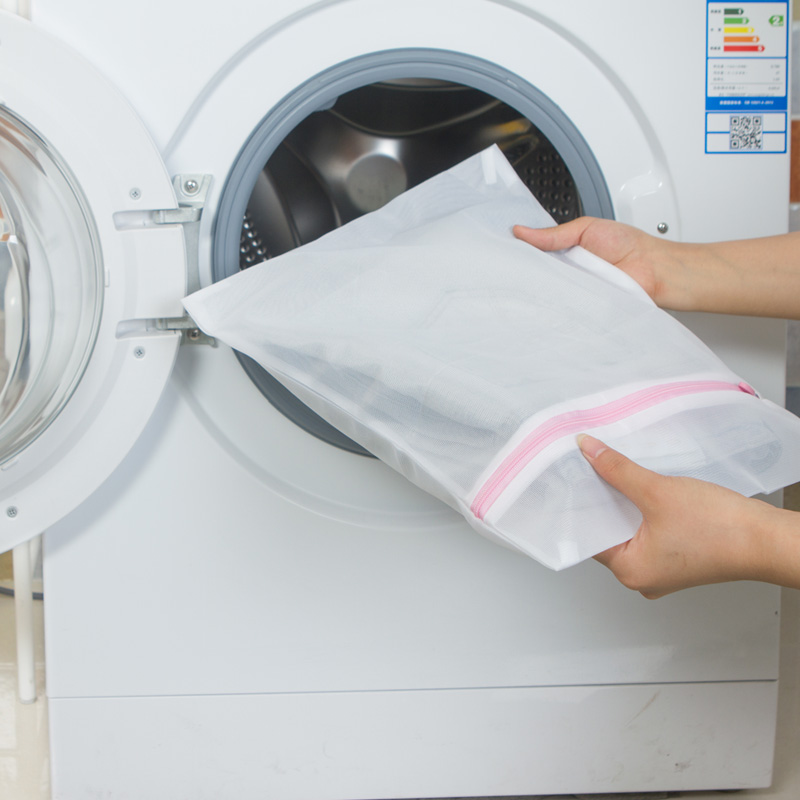 5 thứ quần áo túi giặt đồ lót lắp rèm tắm bao bảo vệ túi áo vải của mạng lưới túi lưới thô.