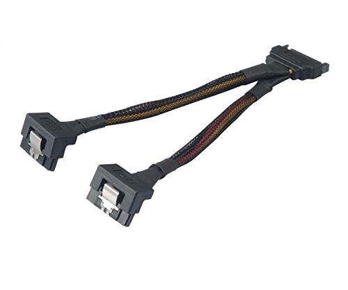 Nhà phân phối điện SATA 15 pin SATA nam 2 SATA nối góc phải