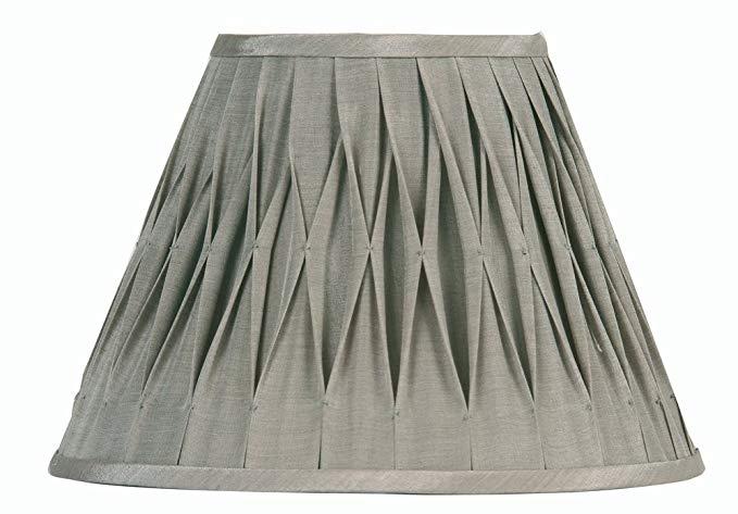 Oaks Lighting Sutlej Silk Coolie Shade 40.64 cm, màu xám mềm (có bóng râm riêng)
