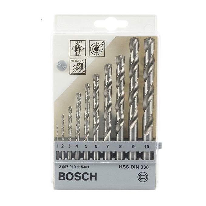 BOSCH Bosch bộ khoan xoắn (mài) G1-10MM / 10 thanh / bộ Tốc độ cao mũi khoan xoắn bit (2607019115)