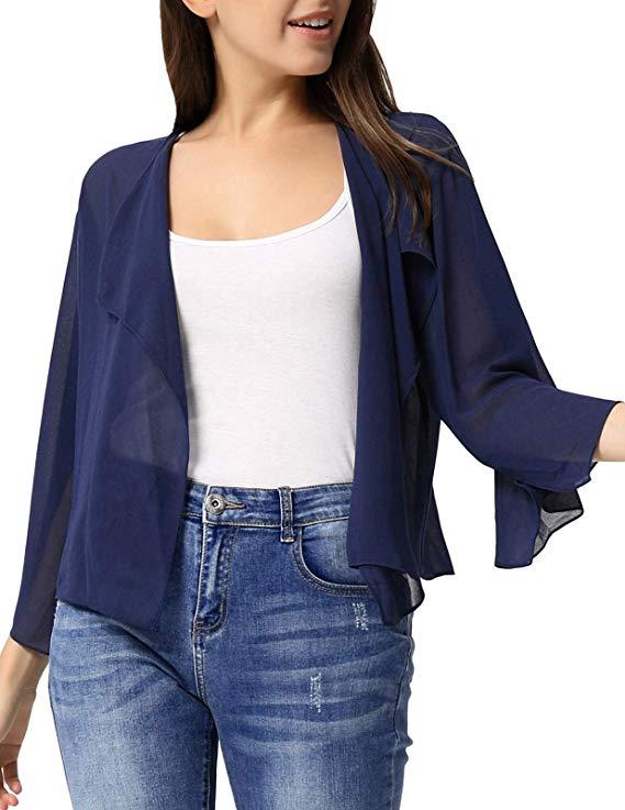 Kate Kasin  Áo khoác kiểu khăn choàng ngắn Cardigan KK913