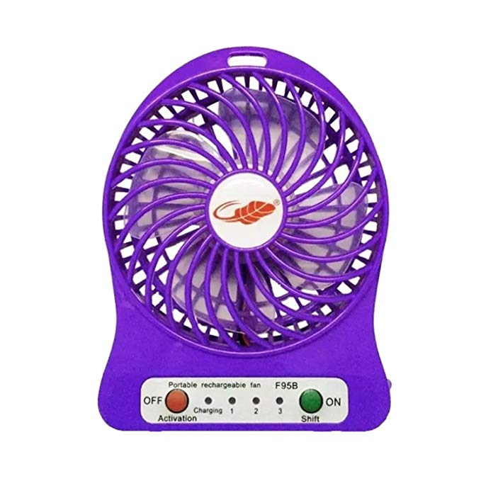 Usb mini fan sạc usb đèn pin nhỏ (màu tím)