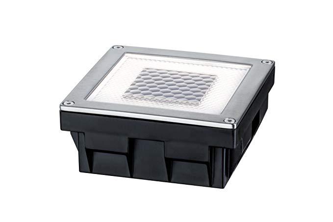 Paulmann 937.74 Dòng đặc biệt, Đèn năng lượng mặt trời Cube / Hộp đèn LED vuông, IP67, Trắng ấm, 0.2