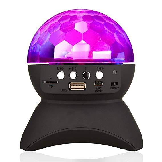 Bên gia đình Ánh Sáng Loa LED Rotating Pha Lê Magic Ball DJ Sân Khấu Chiếu Sáng Không Dây Bluetooth