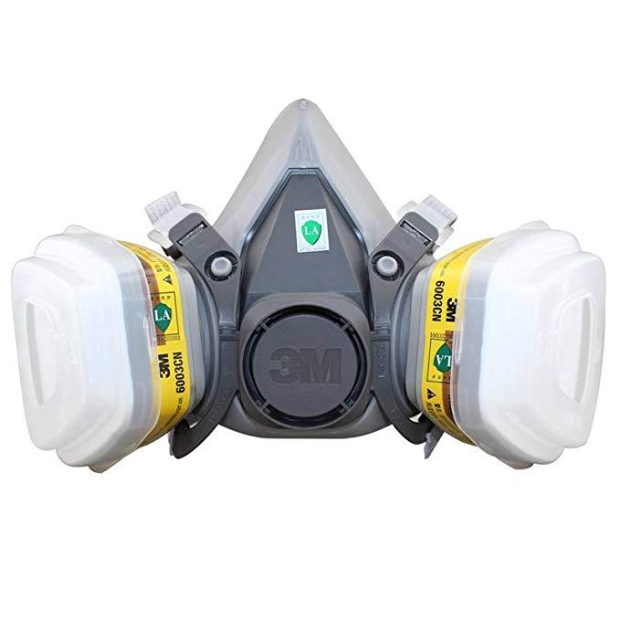 Mặt nạ bảo vệ mặt nạ bảo vệ 3M đặt 6200-6003 bảy mảnh (bảo vệ khí axit)