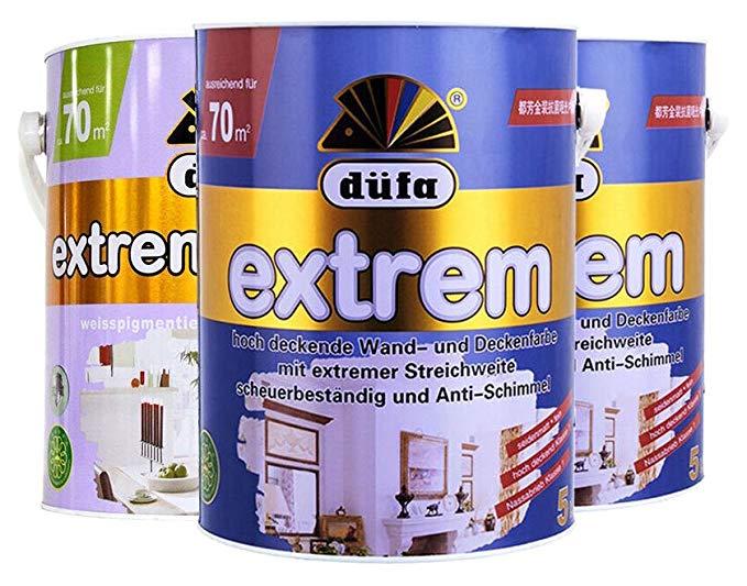 Dufa Đức Dufang Vàng kháng khuẩn matte nội thất tường sơn hai bên và một dưới cùng thiết lập 15L