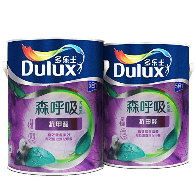 Dulux Dulux Hô hấp không có thêm chất chống diatom formaldehyde 5-trong-một bức tường sơn A8111 màu
