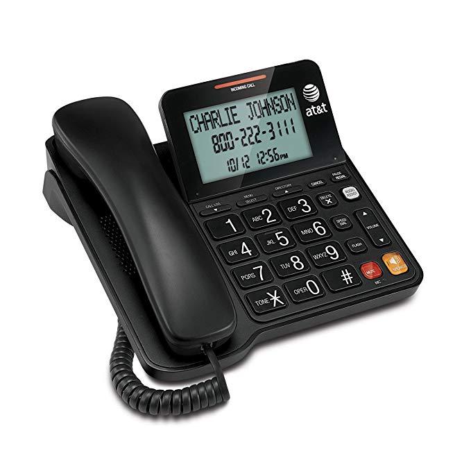 AT & T CL2940 điện thoại có dây với loa ngoài, màn hình hiển thị độ nghiêng quá khổ / nút, nhận dạng