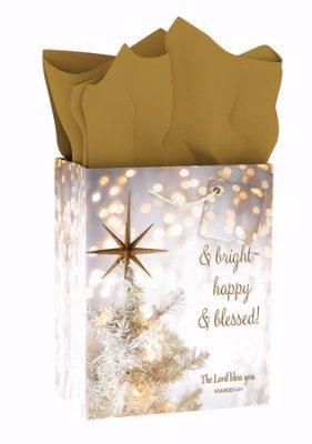 Túi quà trung bình - Giáng sinh - Hạnh phúc và Phước lành