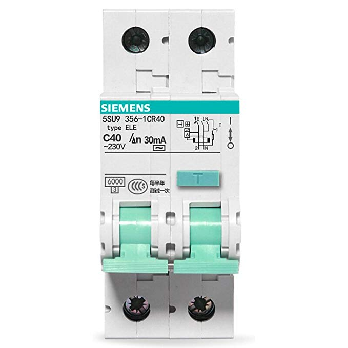 SIEMENS Siemens mở công tắc điện tử 1P + N 40A rò rỉ ngắt mạch