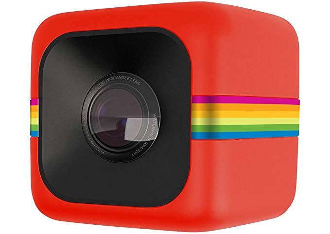 Polaroid Polaroid Cube Bóng Cube Thể thao Máy ảnh Đỏ (6 triệu điểm ảnh 124 độ góc nhìn siêu rộng Ful
