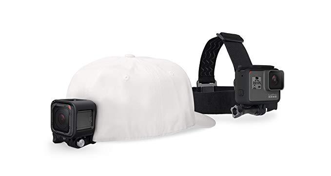 GoPro thể thao phụ kiện máy ảnh head cố định headband và QuickClip có thể điều chỉnh (HERO5, HERO6,