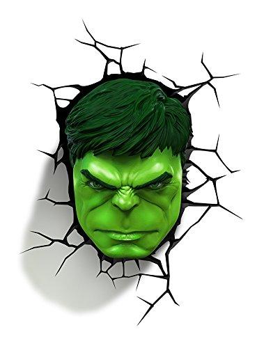3DLightFX Marvel Avengers Hulk mặt 3D đèn trang trí