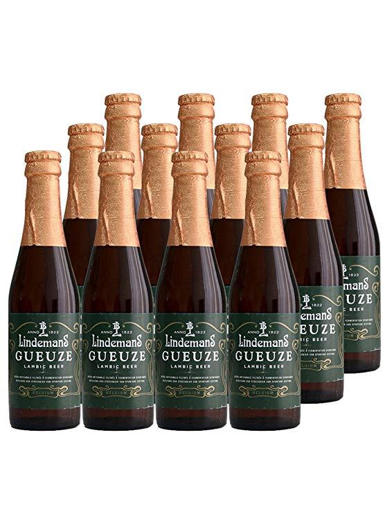 Lindemann Bỉ nhập khẩu trái cây bia Lindemans Lindemann pha trộn bia 250 ml x 12 chai kết hợp