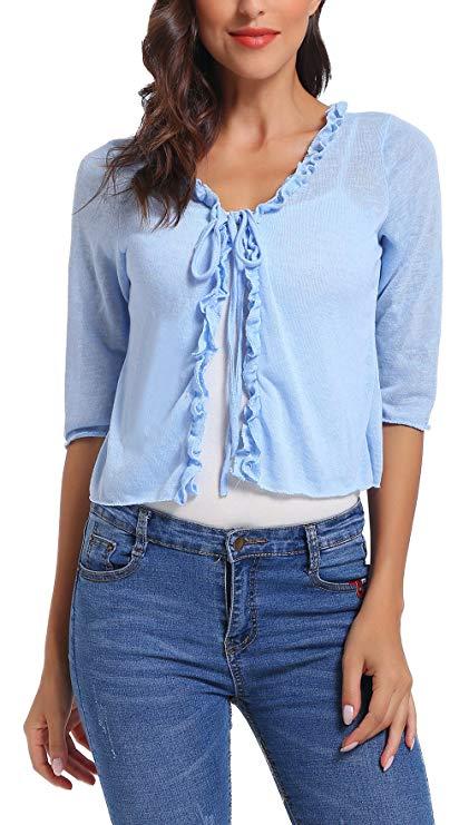 Áo khoác len lững kiểu Cardigan cho Nữ