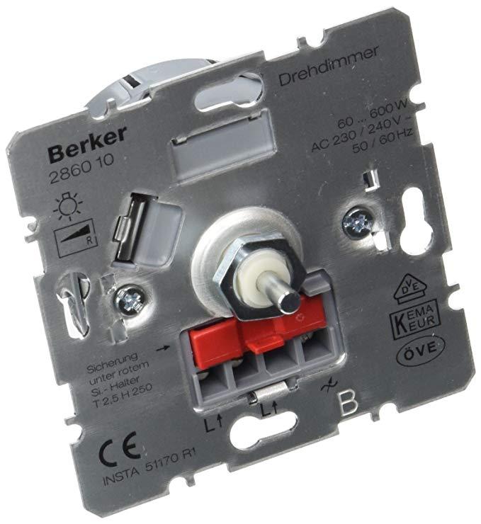 BERKER 286010 Dimmer Plug-in cho bóng đèn sợi đốt