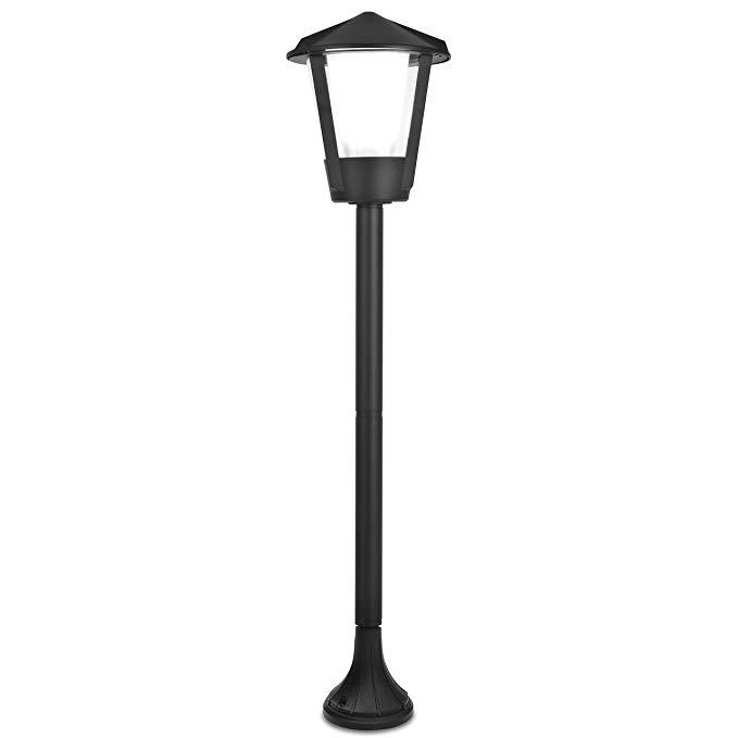 Ánh sáng đường phố cổ điển ánh sáng sinh thái cho ngoài trời, nhôm đúc, E27, IP54, than đen 11253 SH