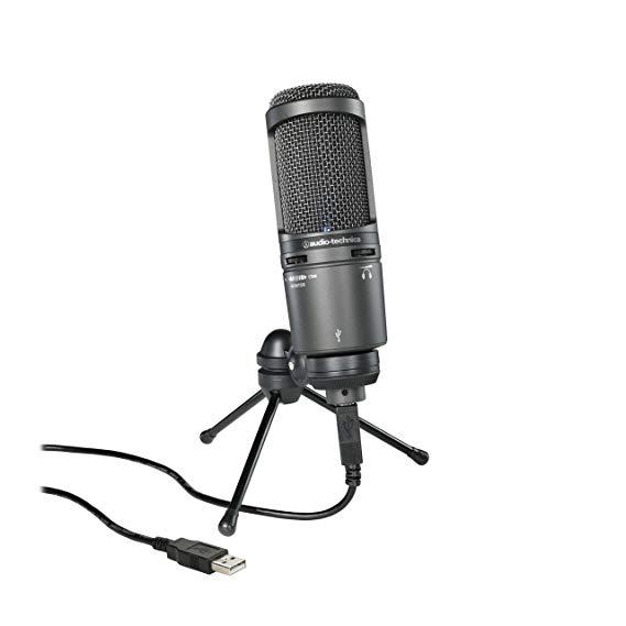 Âm thanh-Technica Sắt Triangle AT2020USB + USB Cardioid Directional Condenser Microphone Hiệu quả Gi