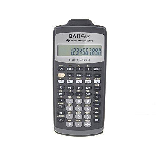 Texas Instruments Texas Instruments TI BAII cộng với Máy tính Tài chính (cho kỳ thi CFA / FRM / SOA