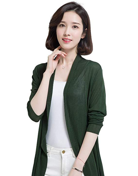 Áo len dài tay mỏng kiểu khoác cardigan , hiệu Hengyuanxiang