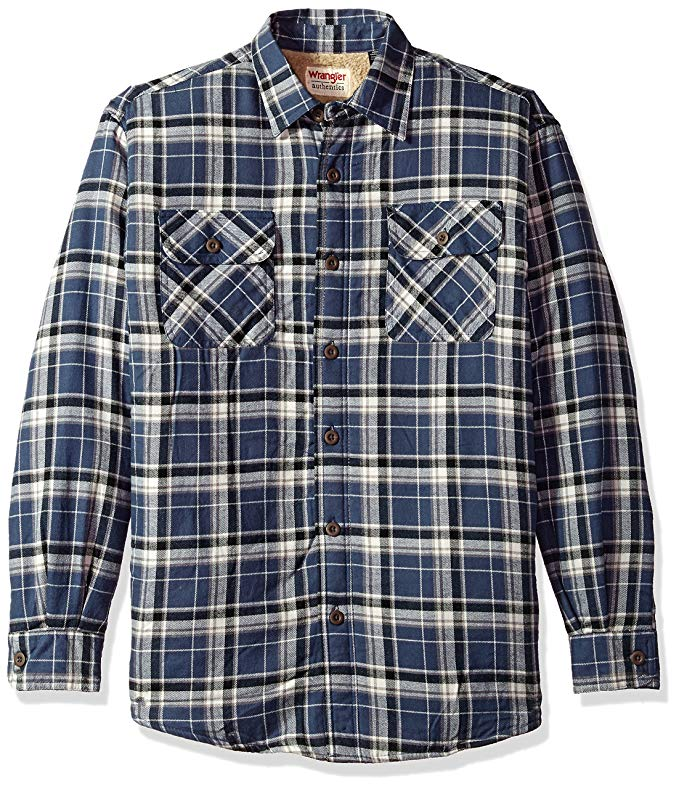 WRANGLER nam authentics dài tay áo cashmere lót flannel áo sơ mi