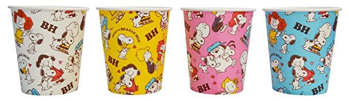 Snoopy BH Paper Cup 205ml 25 Gói 4 màu