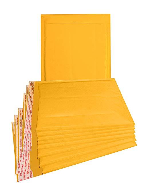 25 gói Da bò đệm phong bì 21.59 x 27.94 cm Túi bong bóng 21.59 x 27.94 cm Phong bì bong bóng màu vàn