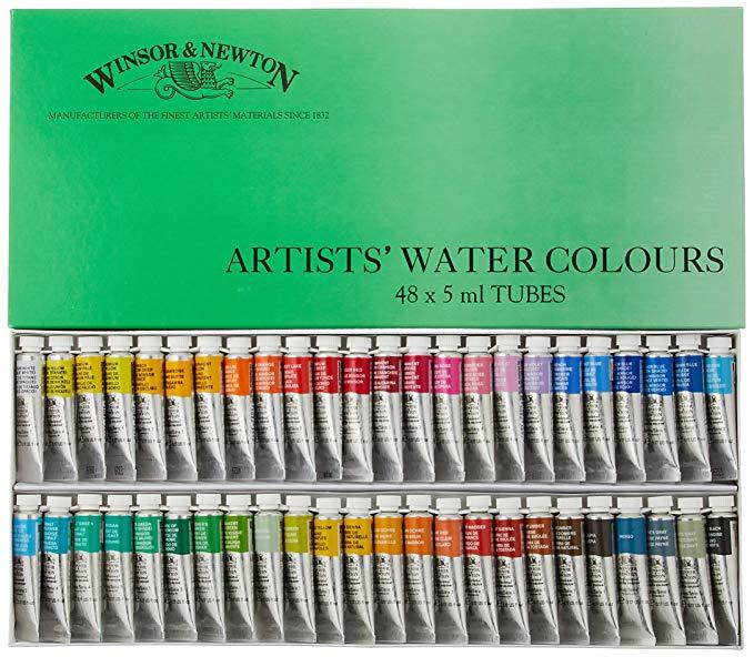 Windsor & Newton sắc tố màu nước Windsor & Newton chuyên nghiệp Aqua 48 màu Set