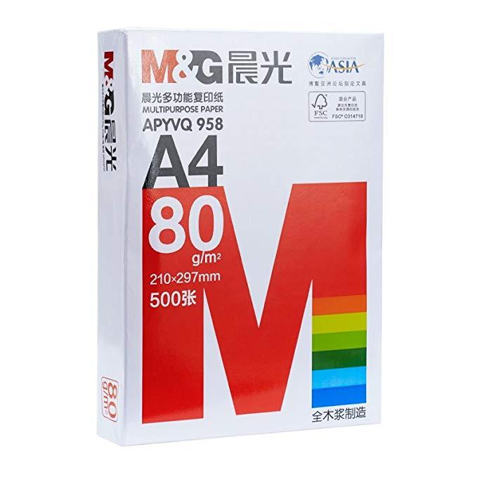 Buổi sáng ánh sáng giấy A4 In giấy sao chép 80 gam gỗ nguyên chất bột giấy 500 tờ a4 giấy trắng gói
