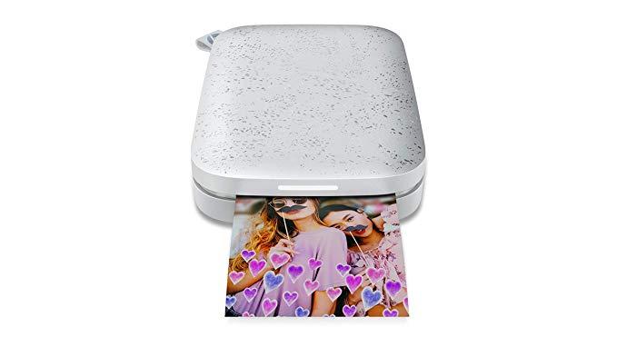 HP Sprocket 200 Máy in ảnh di động (không có mực in, Bluetooth, 5 x 7,6 cm in) 1AS85A # 638 Fotodruc