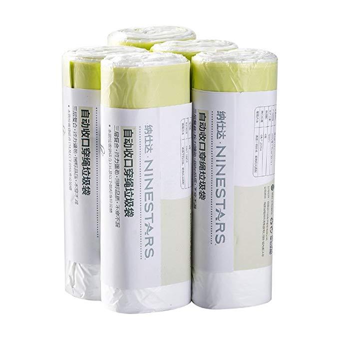 NSD (NST) dày point-breaking đóng cửa tự động dây túi rác Hộ Gia Đình túi nhựa cầm tay 150 cái 15L h