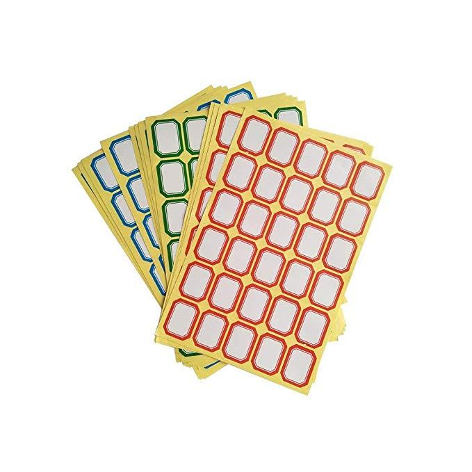 LEAFBABY Màu Sticker Tên Tag Sticker Trường Home Office 360 Dán Red Bull và Màu Xanh Lá Cây