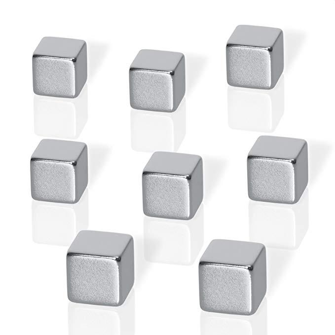 Be! Board B310 NeoDym nam châm cho kính từ tấm BeBoards / kính từ tấm Cube hình dạng Bạc 8er-Set Wür