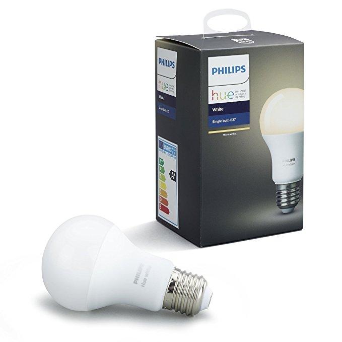 Bóng đèn LED đơn E27  màu trắng đơn Hiệu Philips , hoạt động với Alexa, 9.5 W .