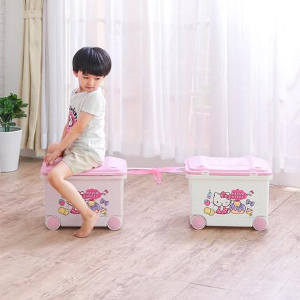 Alice IRIS Hello Kitty Trẻ Em của Đồ Chơi Lưu Trữ Organizer Nhựa Vành Đai Ròng Rọc Hộp Lưu Trữ Lớn