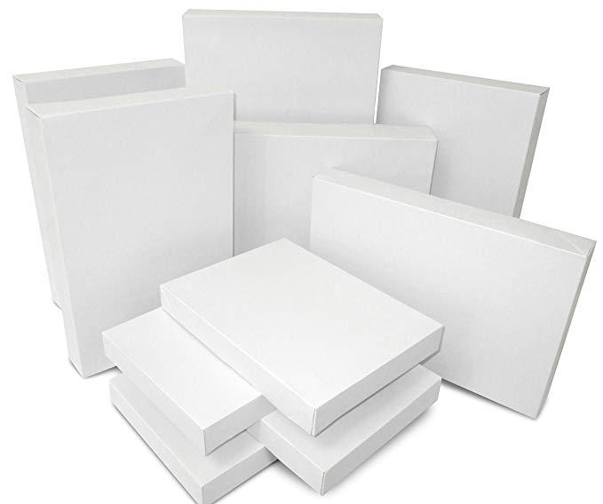 Hộp quà tặng hỗn hợp màu trắng - 10 hộp mỗi gói