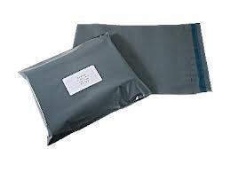 Túi gửi thư màu xám chắc chắn 5000 x 15,24x22,86 cm
