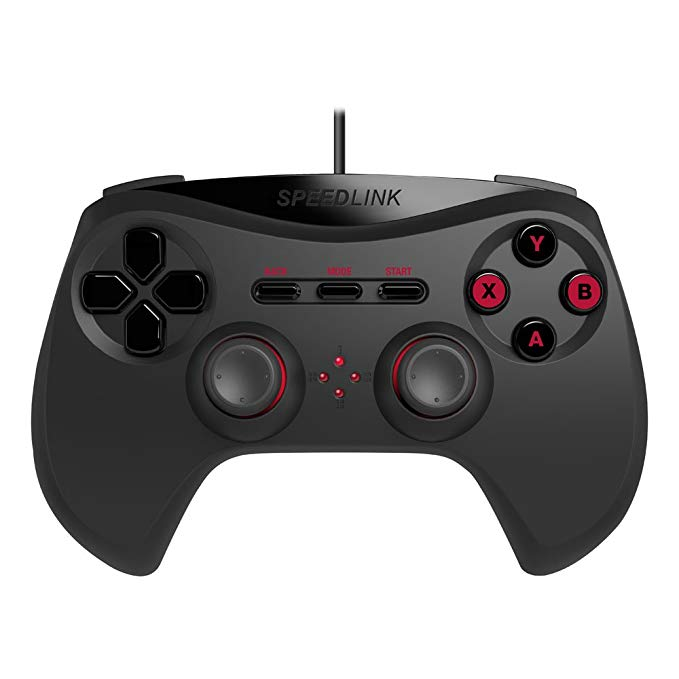 Speedlink Strike NX gamepad cho PC, bộ điều khiển trò chơi, độ rung thực tế cao, * ergonomics tốt, k