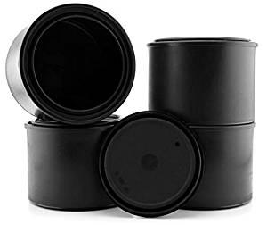 Lon nhựa đen kích thước pint (4 gói), 1⁄2 lít tất cả lon nhựa cho dung môi, sơn hoặc hàng thủ công v