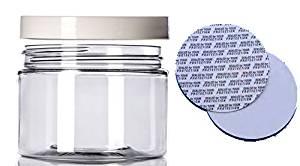 340,19 gram lon nhựa trong suốt w / bìa trắng (6) hạt - hoàn hảo cho các loại kem DIY, kem, vv