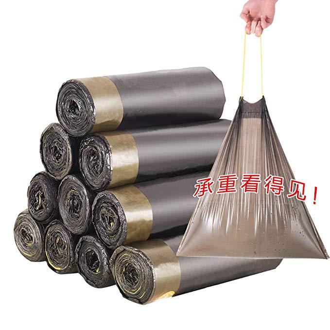 Bao Youni tự động đóng túi rác dày hộ gia đình di động mặc dây rút dùng một lần bếp túi nhựa 45 * 50