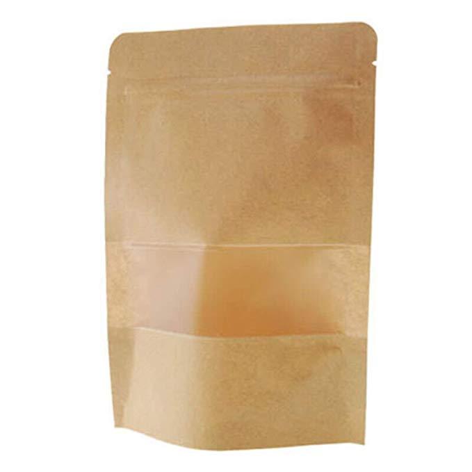 Na Liya dày mở skylight kraft giấy Ziplock túi tự hỗ trợ túi Ziplock túi túi thực phẩm 100 nhỏ 17X24