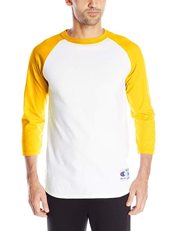 Người đàn ông vô địch Raglan bóng chày áo thun thời trang giản dị áo thun
