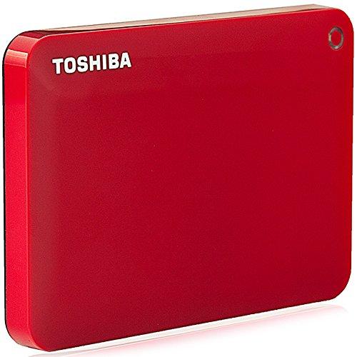 TOSHIBA Toshiba V8 CANVIO cao cấp chia sẻ loạt ổ cứng di động 2,5 inch (USB3.0) 1TB (màu đỏ rực rỡ)